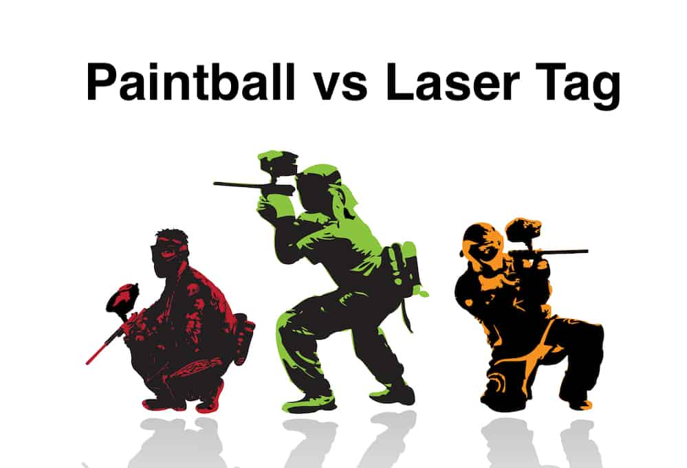 paintball and laser tag