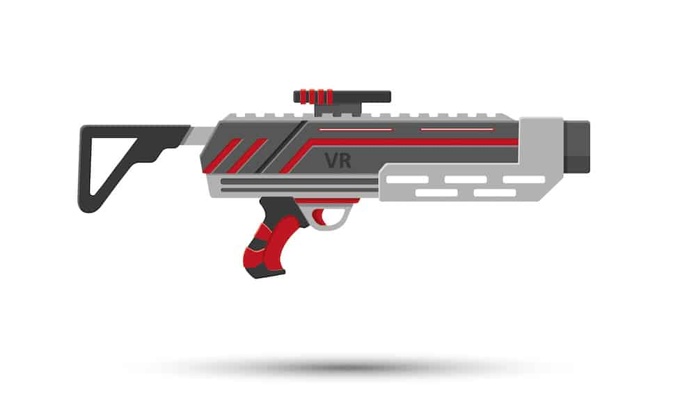 A laser tag blaster named VR