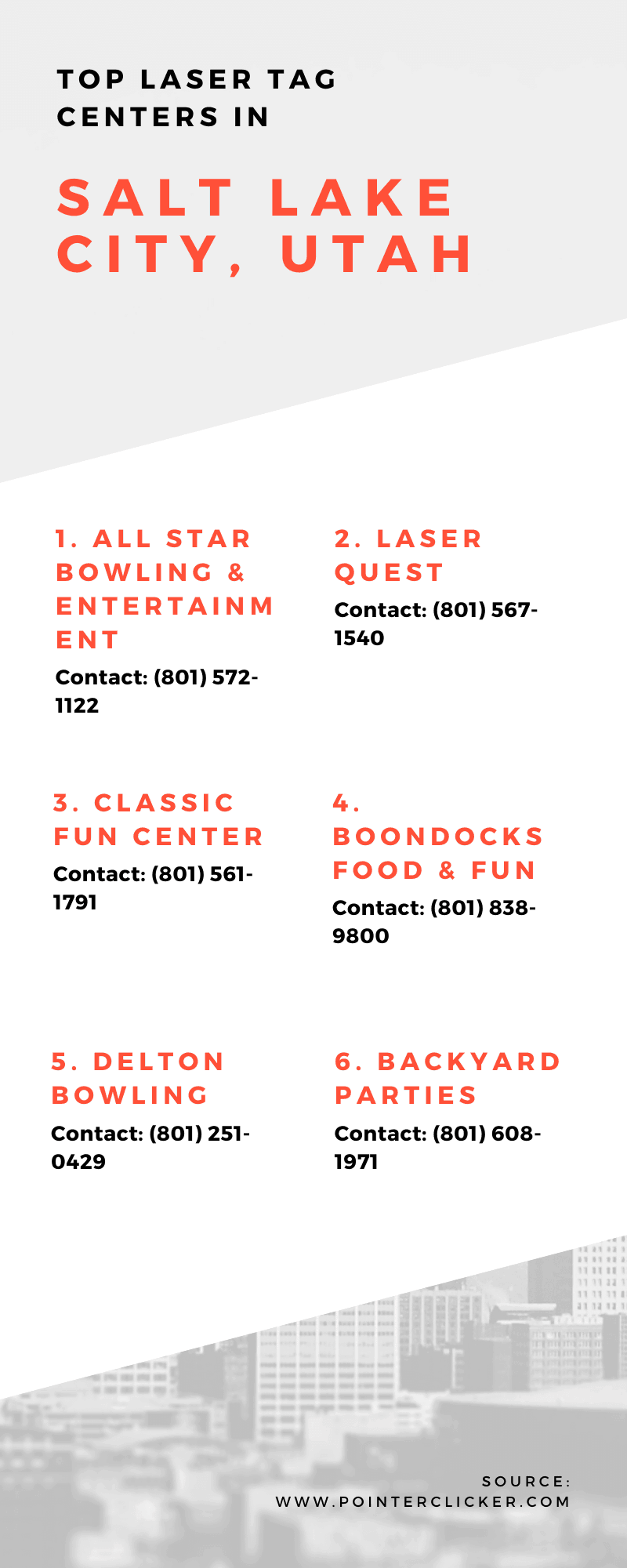 laser tag salt lake city infographic
