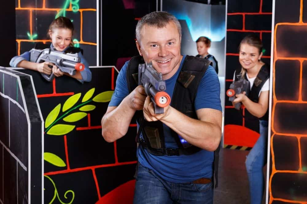have fun while playing laser tag